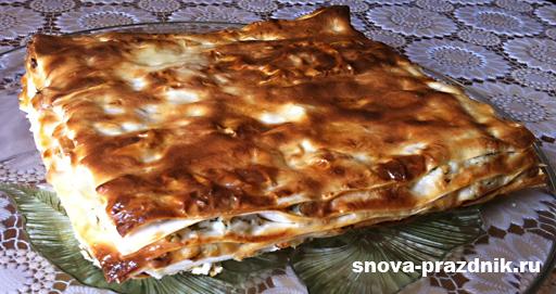 рецепты из лаваша с фото