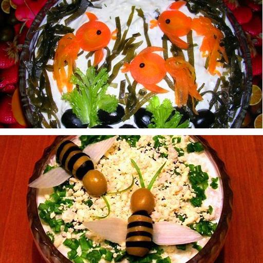 рецепты для салатов для детей на день рождения