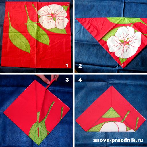 схема лилия из бумажной