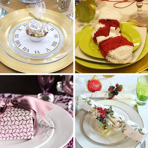 подарки на тарелках