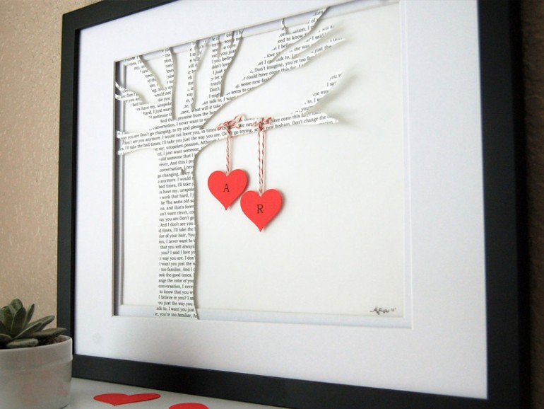 валентинки на газетном дереве