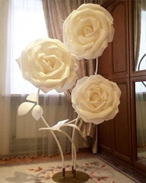 Ростовые цветы своими руками выкройки мастер класс