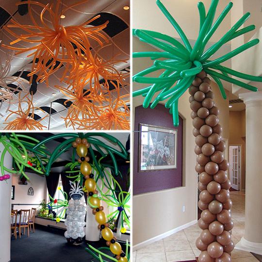 как украсить комнату шарами