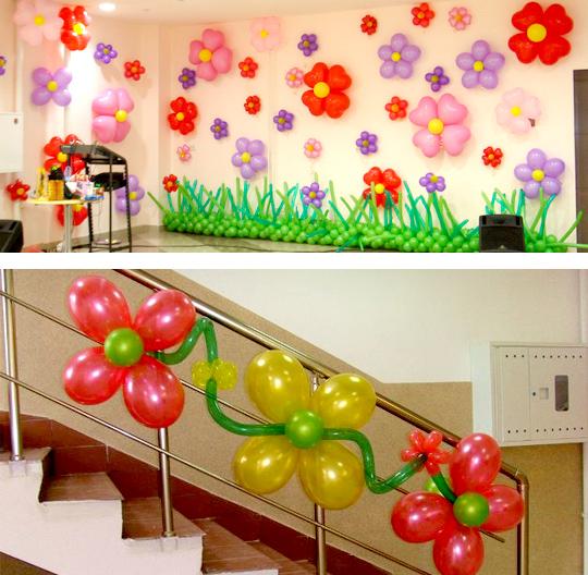 Цветок из шаров своими руками просто фото 608