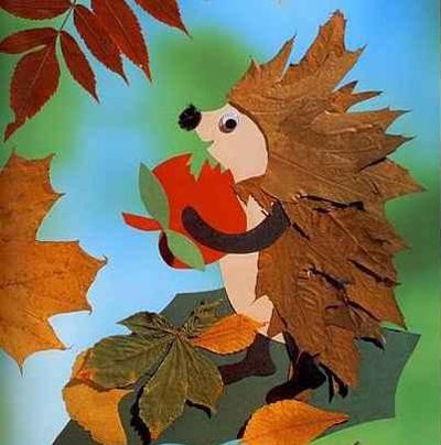осенние поделки, поделки из осенних листьев