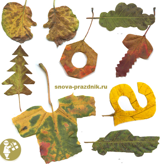 поделки из осенних листьев, осенние поделки