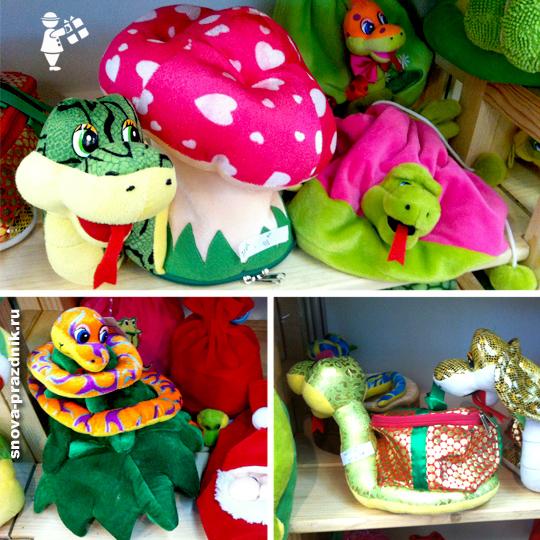 Нового года игрушка змея для конфет