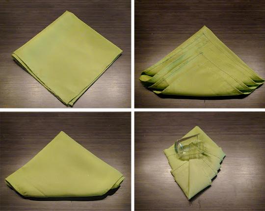 как сложить бумажные салфетки на новый год