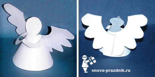 Схема ангелы из бумаги