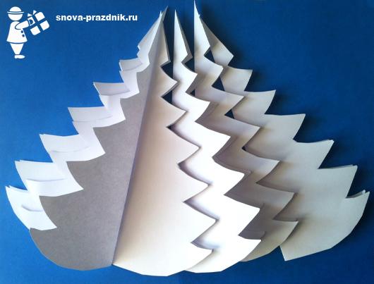 Елки из бумаги своими руками елочки из бумаги 16