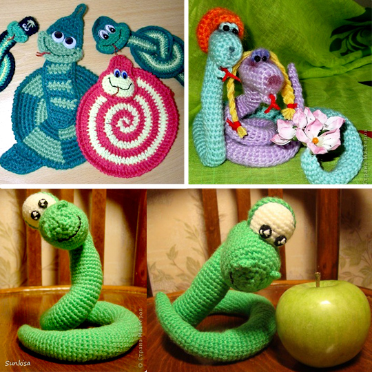 как сделать змею своими руками