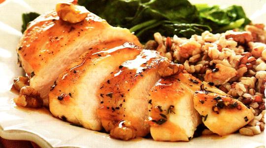 Грудка цыпленка в медовом соусе