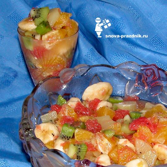 grey Фруктовый салат: беспроигрышный праздничный десерт