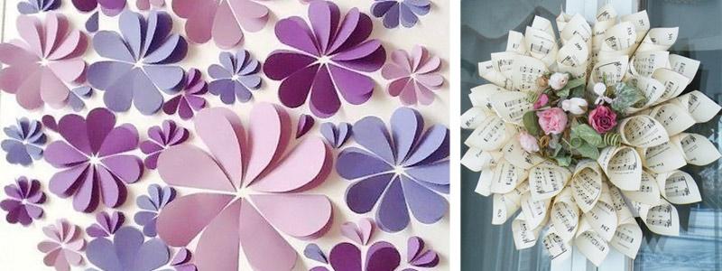 Большие цветы своими руками для украшения зала
