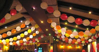 оформление зала шарами, линколуны