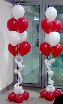 Оформление зала шарами самые простые