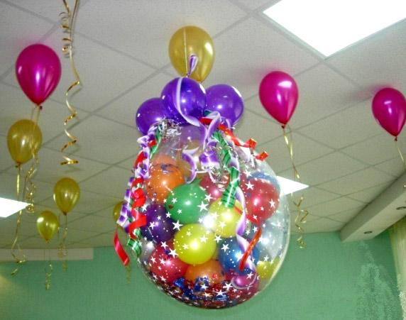 взрыв шара на выпускной