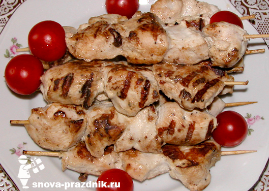 шашлык из курицы для детей