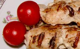 куриные шашлычки на шпажках