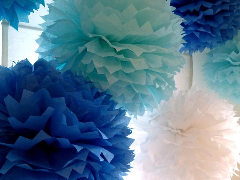 Как украсить зал: бумага плюс фантазия
