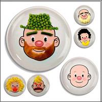 тарелка раскраска для детей
