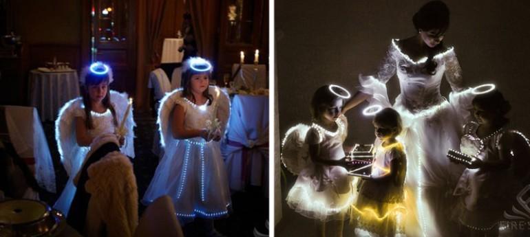 свадебные платья со светодиодами
