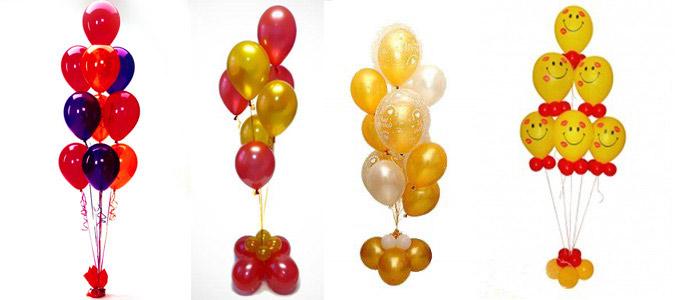 фонтаны их шаров на день рождения