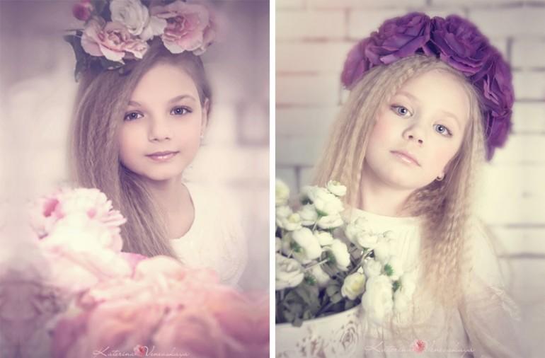 цветочная фотосессия