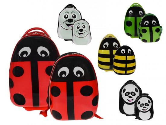 чемоданы в виде насекомых и зверей