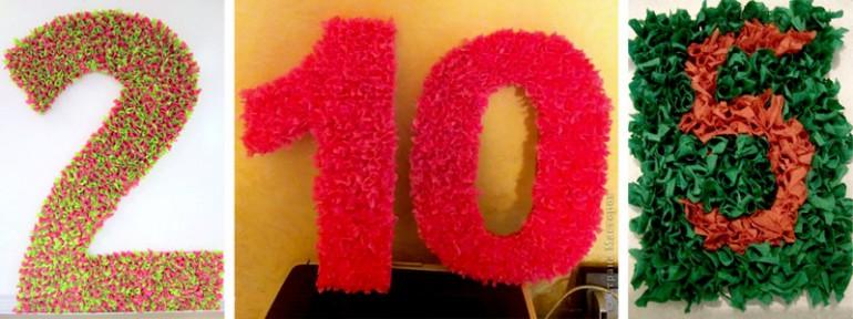 Цифра 10 сделать своими руками