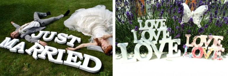 буквы для фотосессии на свадьбе