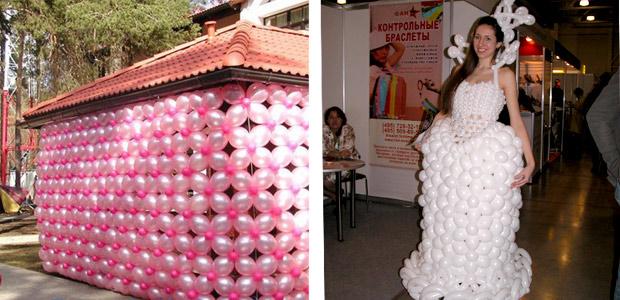 беседка и платье из шаров