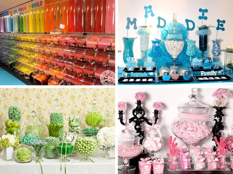 цветовое решение сладкого стола