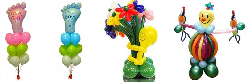 украшения из шаров для комнаты новорожденного