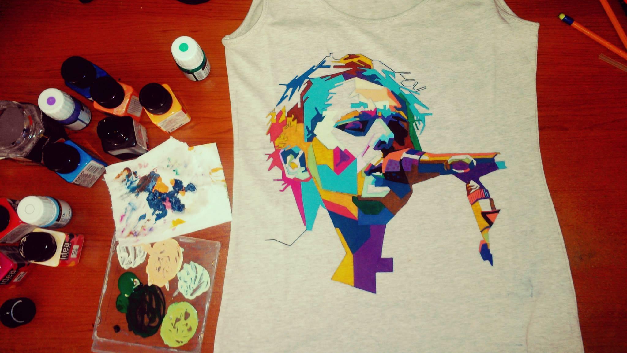 Расписываем футболку на празднике: шедевр в единственном экземпляре