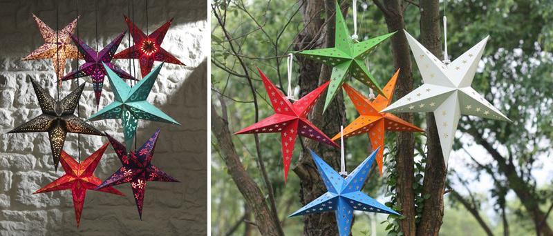 звезды из бумаги - дневной декор