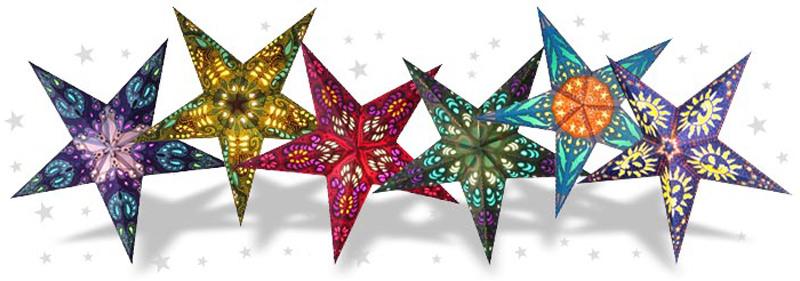 звезды со светодиодами для украшения зала