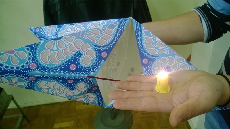 светодиод для бумажного декора