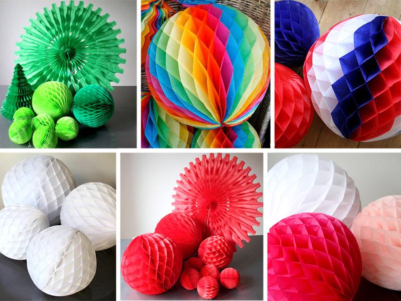 бумажные шары соты