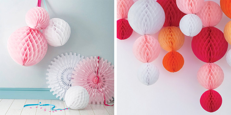 как повесить бумажные шары