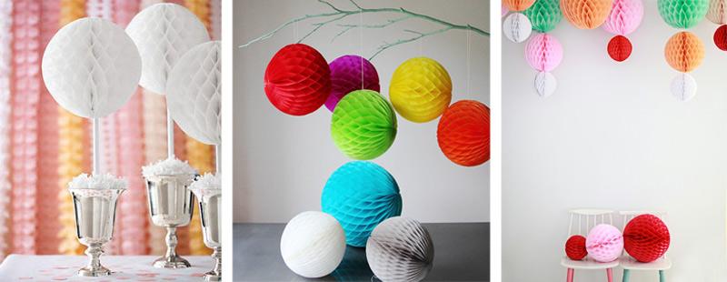 деревья счастья из бумажных шаров