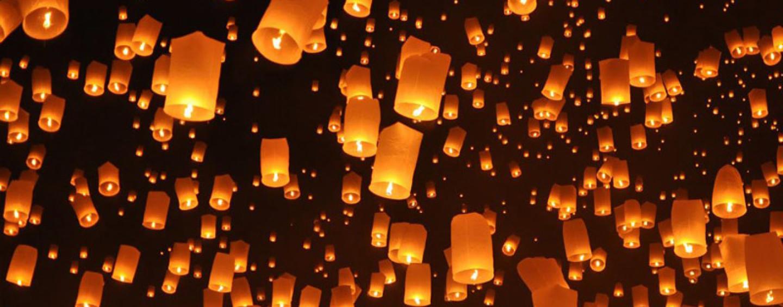Небесные фонарики: красивая традиция праздничного вечера