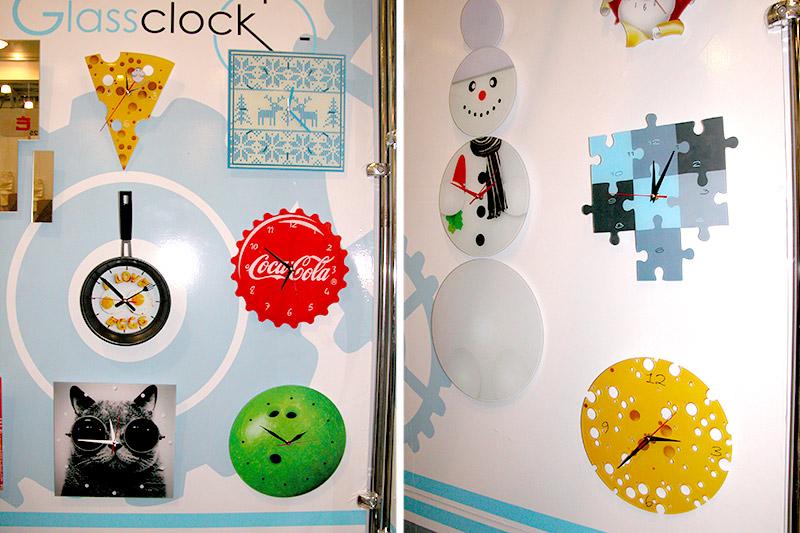 стеклянные часы с логотипами