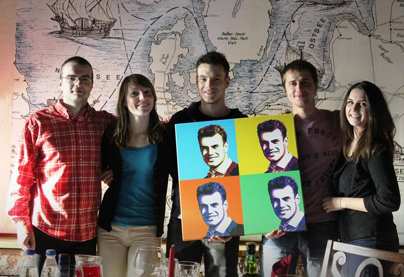 поп-арт на холсте в подарок на день рождения
