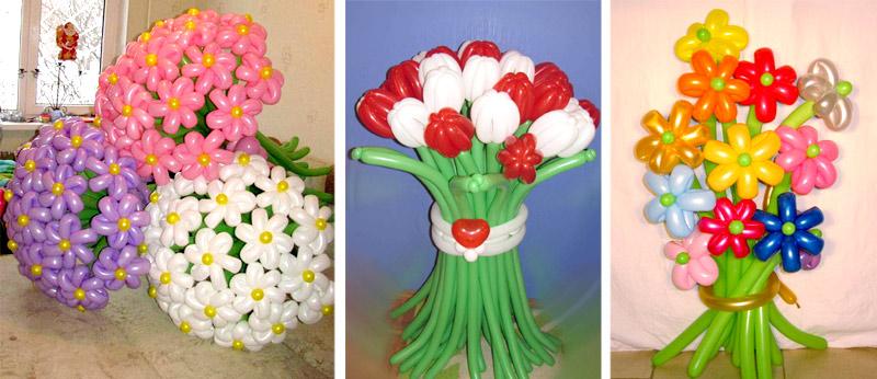 букеты из шаров к 8 марта