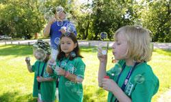 парад мыльных пузырей в лагере
