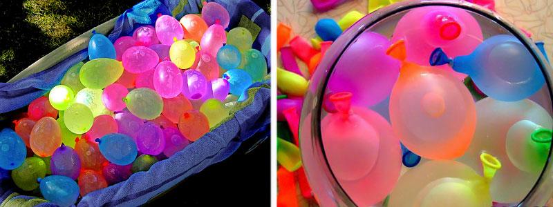 шары с водой для эстафет