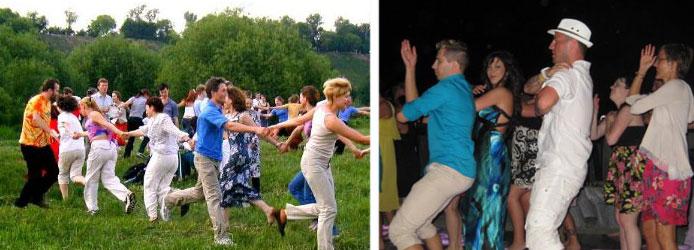 танцевальные игры на вечеринке на природе
