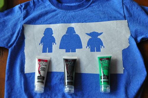 детский мастер-класс роспись футболок с помощью трафаретов