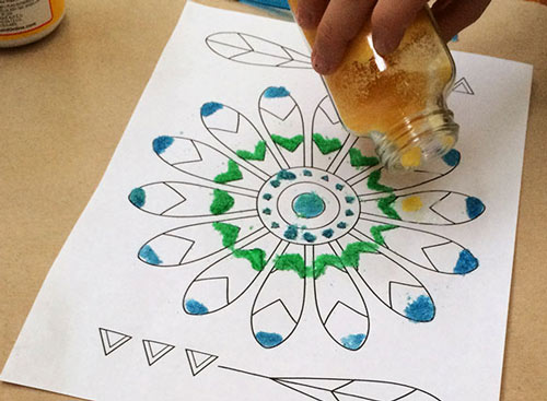 картины из песка мастер-класс